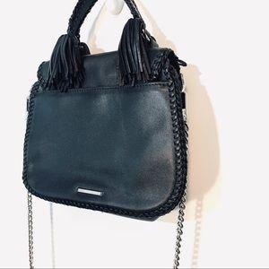 Rebecca Minkoff Chase Large Saddle Bag Black Chain